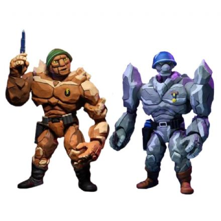 NECA TMNT '87 General Traag & Lt. Granitor Action Figure 2-Pack (Teenage Mutant Ninja Turtles)